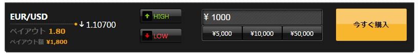 ハイローオーストラリアは1000円の投資が可能